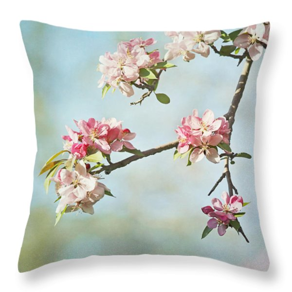 Blossom Branch Throw Pillow by Kim Hojnacki