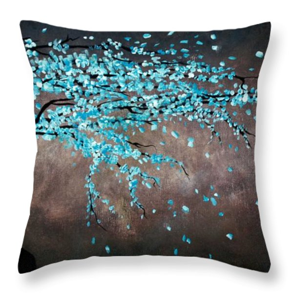 Blossoms In The Wind Throw Pillow by Mike Grubb
