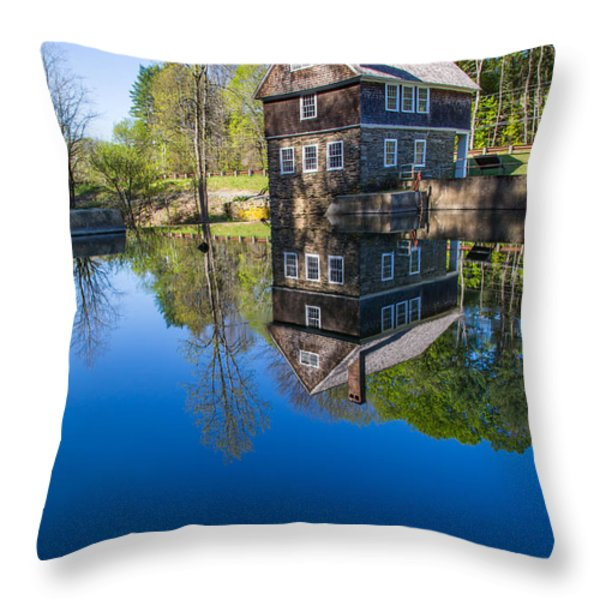 Blow Me Down Mill Cornish New Hampshire Throw Pillow by Edward Fielding