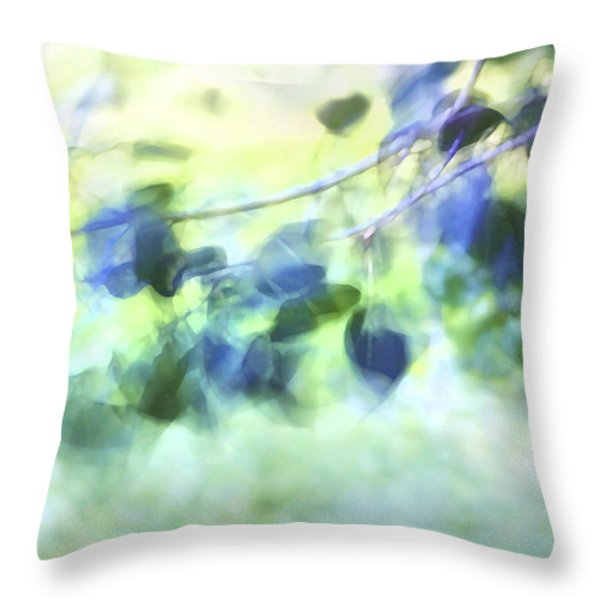 Blowin' In The Wind Throw Pillow by Theresa Tahara