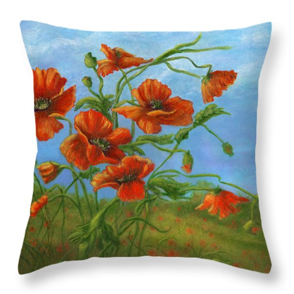 Blowing In The Wind Throw Pillow by Catherine Howard