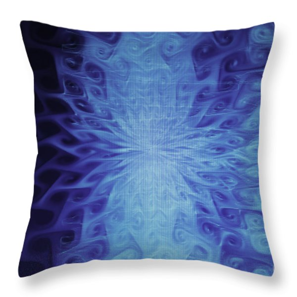 Blu Glace Throw Pillow by Nasser Studios