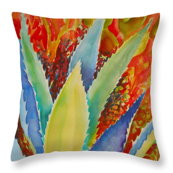 Blue Agave Throw Pillow by Summer Celeste
