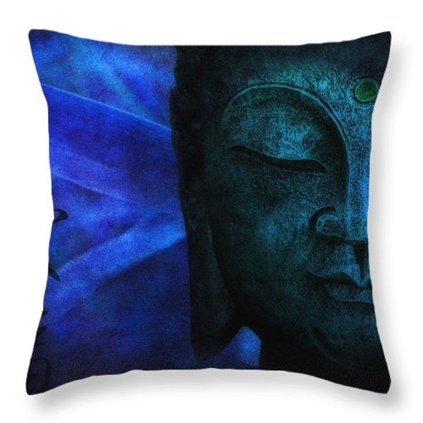 Blue Balance Throw Pillow by Joachim G Pinkawa