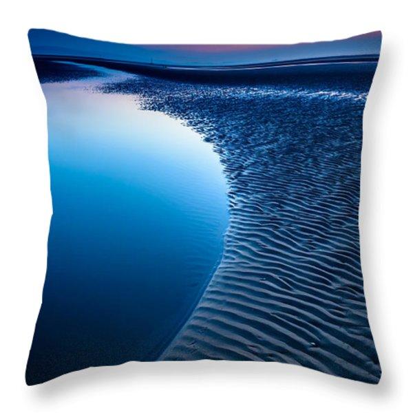 Blue Beach  Throw Pillow by Adrian Evans