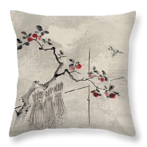 Blue bird Throw Pillow by Aged Pixel