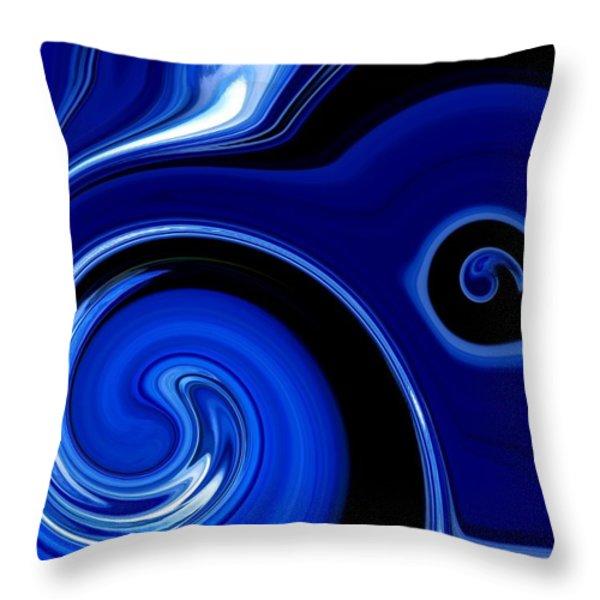Blue Bird Throw Pillow by Chris Butler