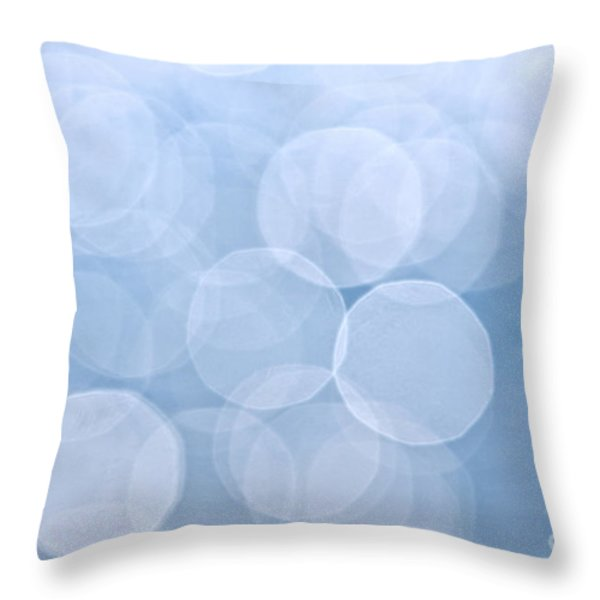 Blue bokeh background Throw Pillow by Elena Elisseeva
