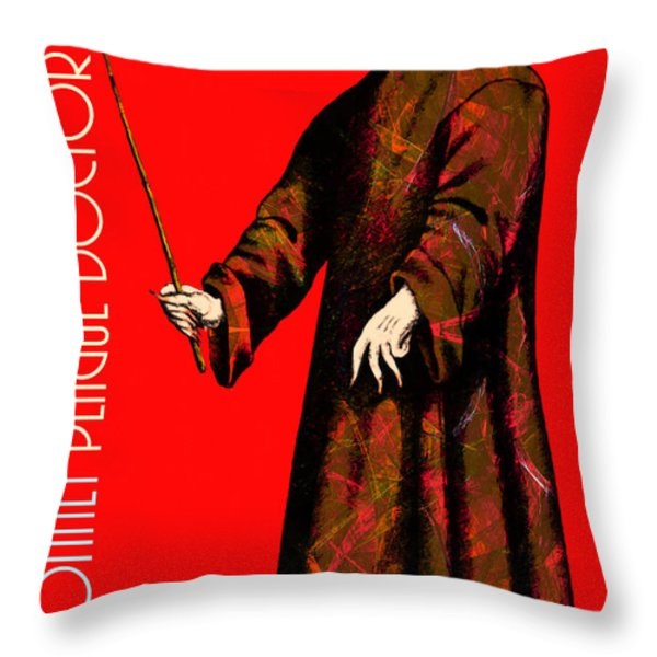 Blue Bonnet Plague Doctor 20140306 With Text Throw Pillow by Wingsdomain Art and Photography