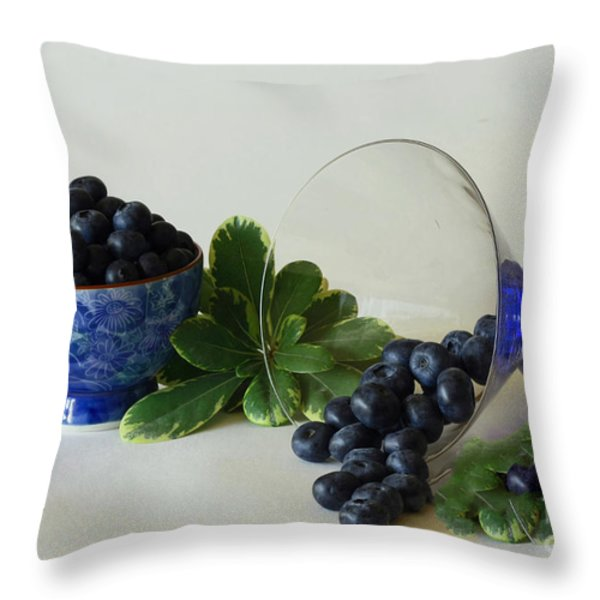 Blue By Nature Throw Pillow by Inspired Nature Photography Fine Art Photography