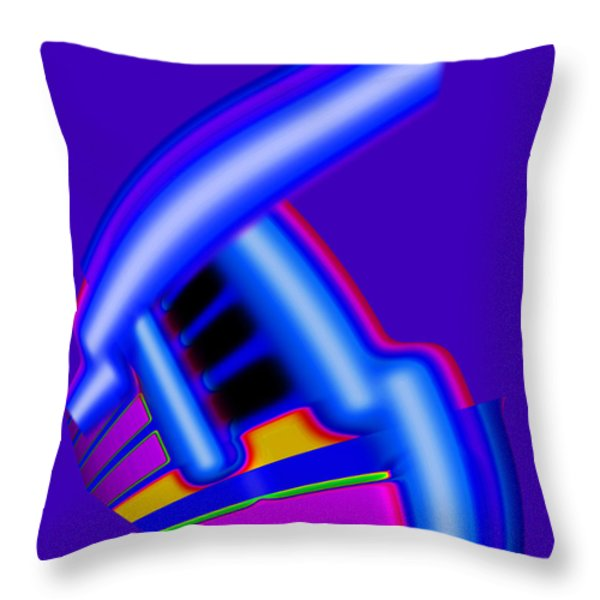 Blue Throw Pillow by Charles Stuart