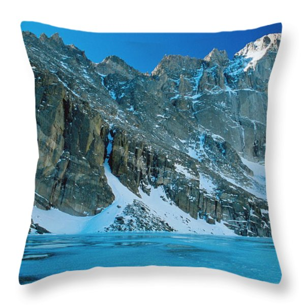 Blue Chasm Throw Pillow by Eric Glaser