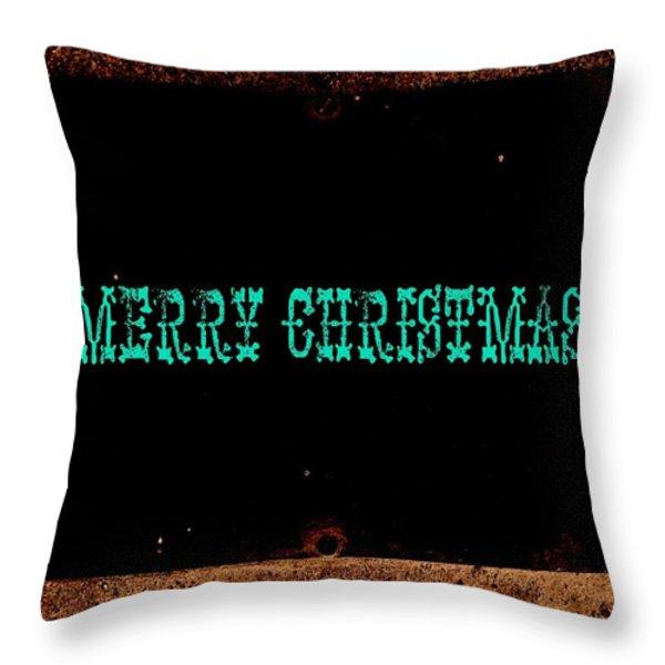 Blue Christmas Throw Pillow by Chris Berry