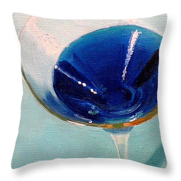 Blue Curacao Throw Pillow by Sarah Parks