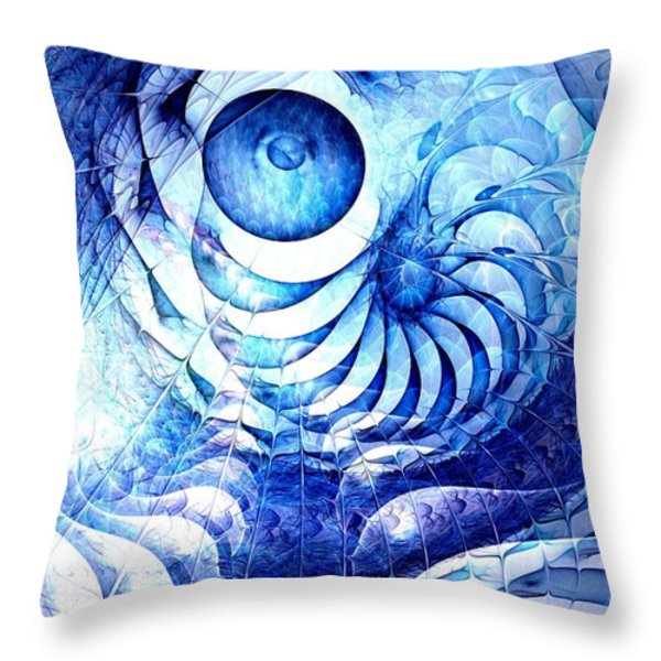 Blue Dream Throw Pillow by Anastasiya Malakhova
