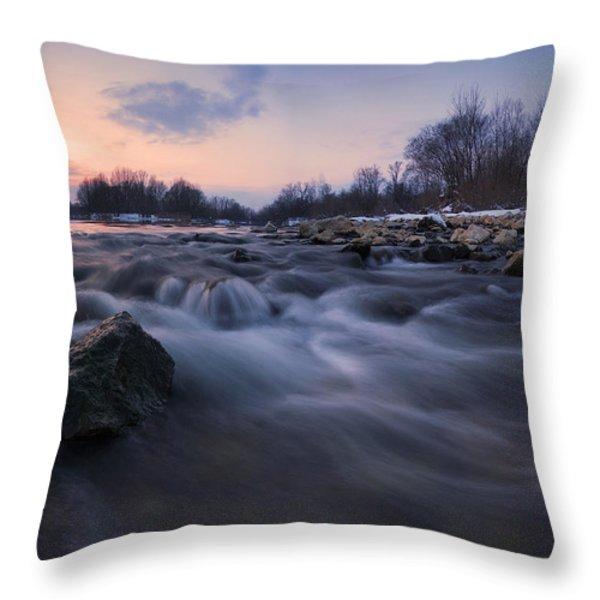Blue Dream Throw Pillow by Davorin Mance