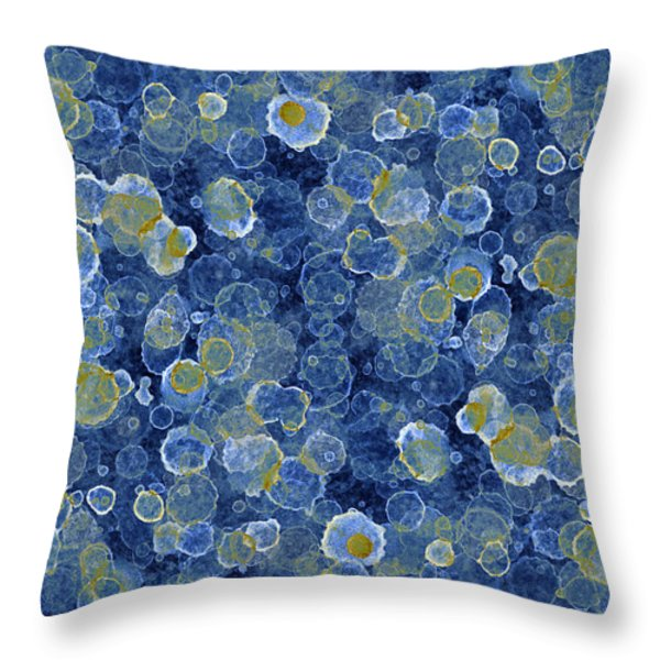 Blue Drip Throw Pillow by Frank Tschakert