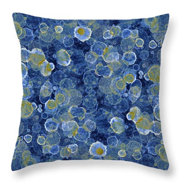 Blue Drip Throw Pillow by Frank Tschakert