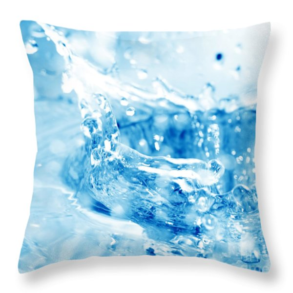 Blue Fresh Water  Throw Pillow by Michal Bednarek