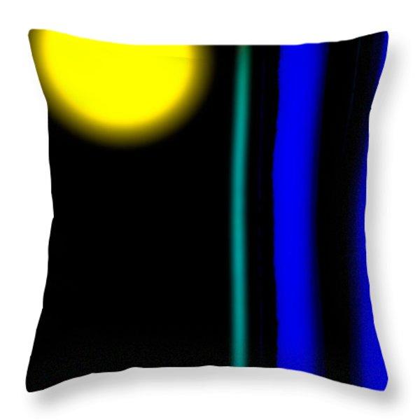 Blue Glass Throw Pillow by Bob Orsillo