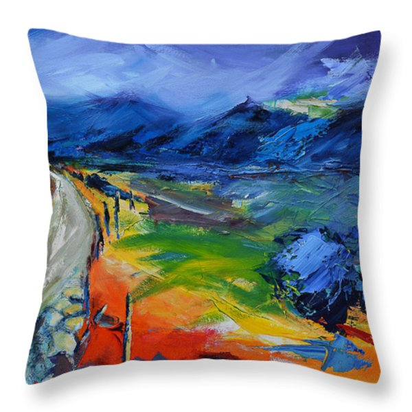 Blue Hills Throw Pillow by Elise Palmigiani