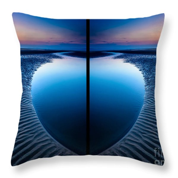 Blue Hour Diptych Throw Pillow by Adrian Evans