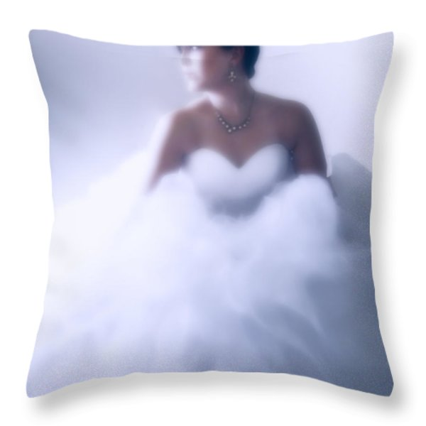 Blue Ice Throw Pillow by Barbara D Richards