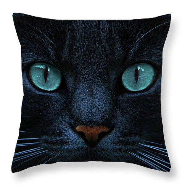 Blue Is The Night Throw Pillow by Joachim G Pinkawa