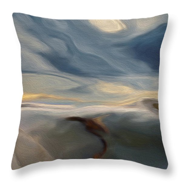 Blue Throw Pillow by Jack Zulli