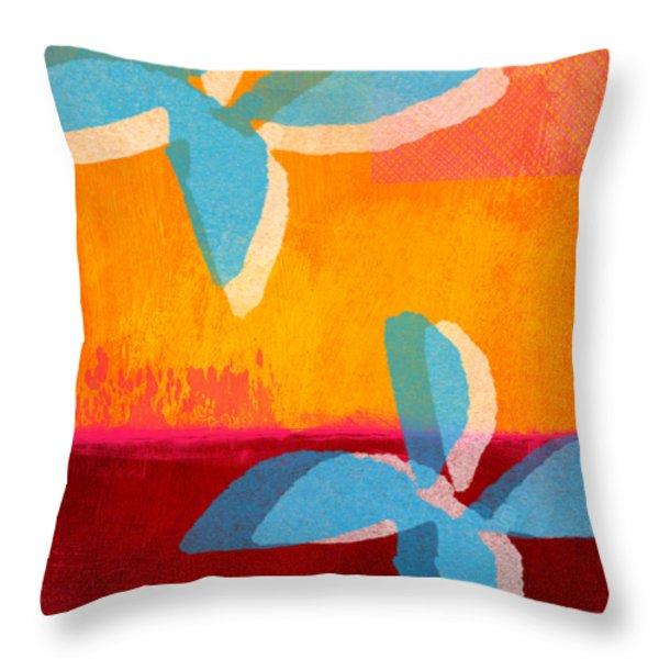 Blue Jasmine Throw Pillow by Linda Woods
