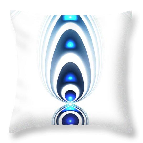 Blue Light Throw Pillow by Anastasiya Malakhova