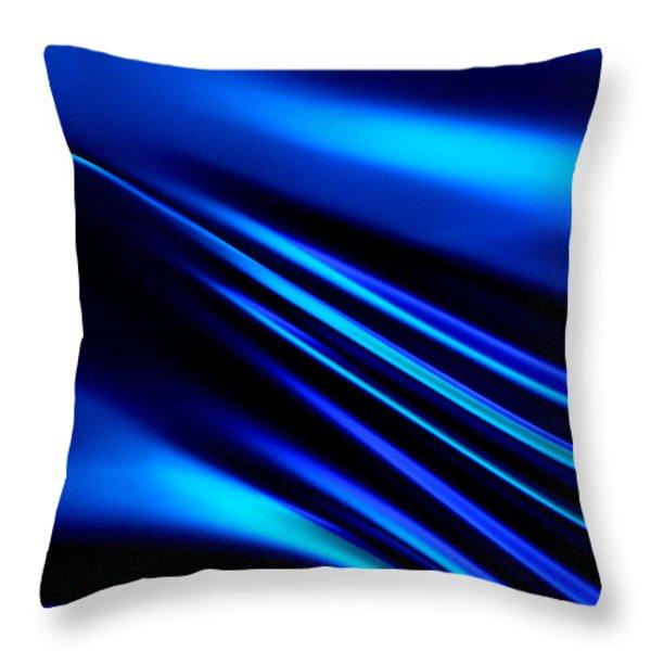 Blue Light Throw Pillow by Art Block Collections