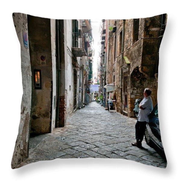 Blue Throw Pillow by Marion Galt