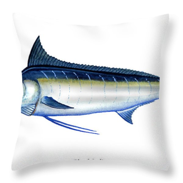 Blue Marlin Throw Pillow by Charles Harden