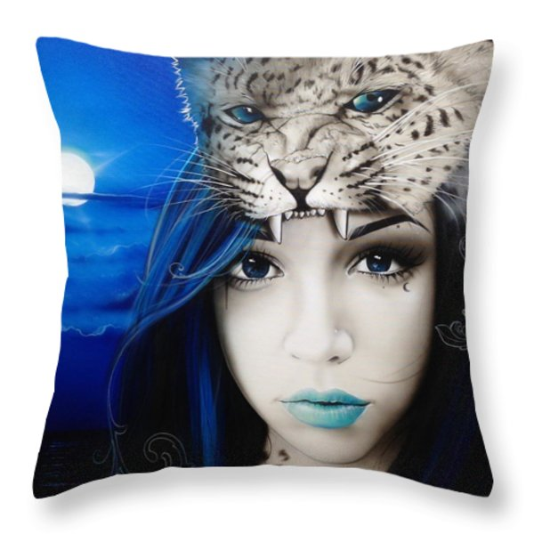 'Blue Moon' Throw Pillow by Christian Chapman Art