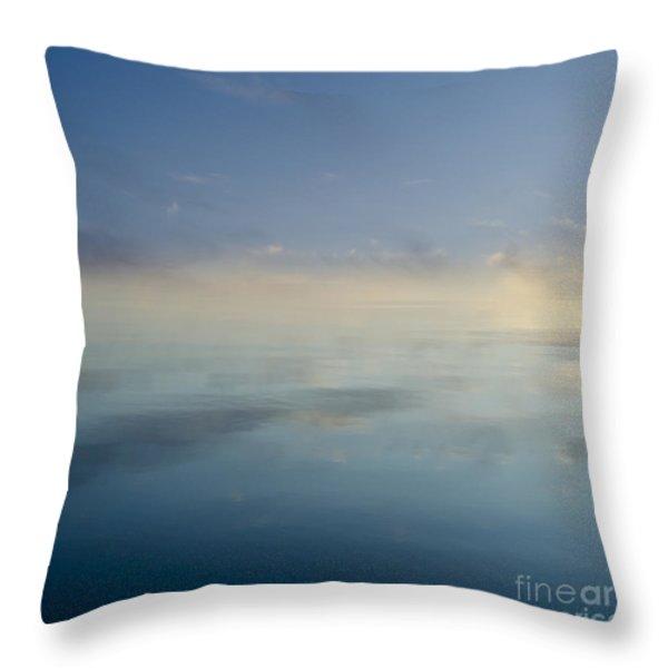 Blue Morning At Glendale Throw Pillow by David Gordon