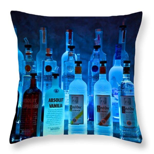 Blue Night Shadows Throw Pillow by Evelina Kremsdorf