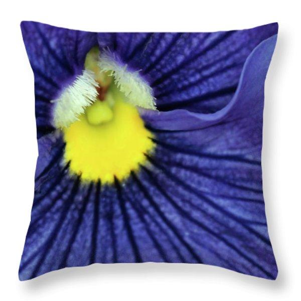 Blue Pansy Throw Pillow by Sabrina L Ryan