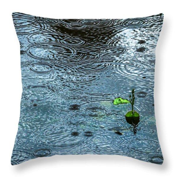 Blue Rain - Featured 3 Throw Pillow by Alexander Senin