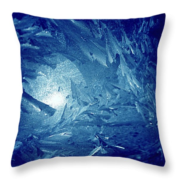 Blue Throw Pillow by Richard Thomas