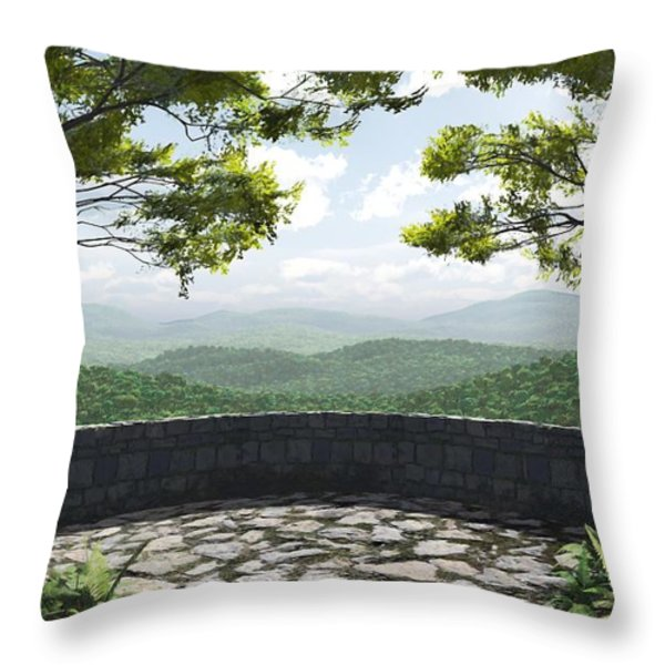 Blue Ridge Throw Pillow by Cynthia Decker