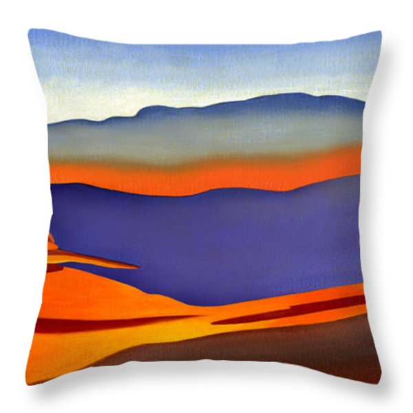 Blue Ridge Mountains East Fall Art Abstract Throw Pillow by Catherine Twomey