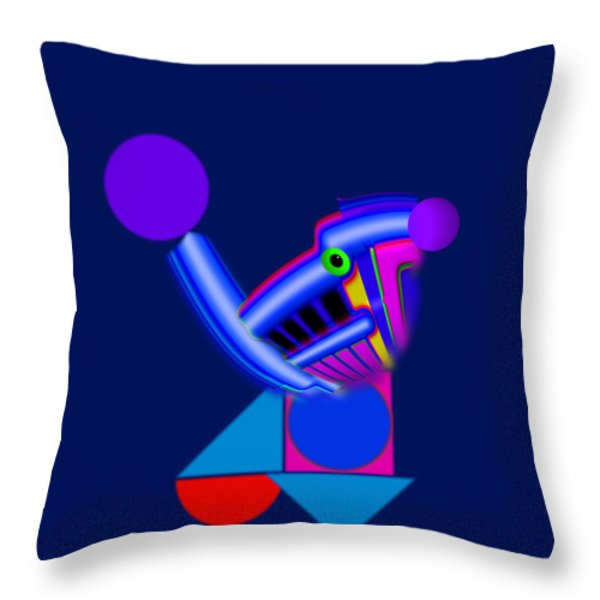 Blue Roost Throw Pillow by Charles Stuart