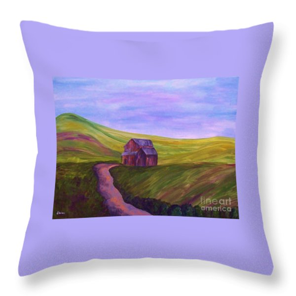Blue Skies In The Hill Country Throw Pillow by Eloise Schneider