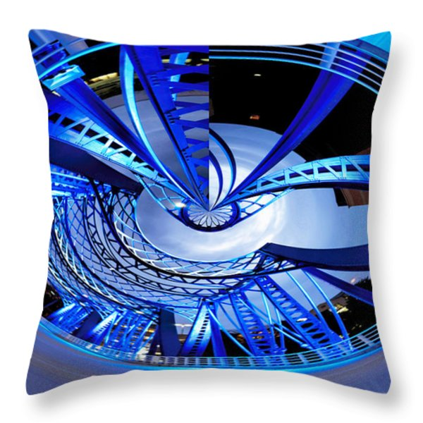 Blue Steel Throw Pillow by Evie Carrier