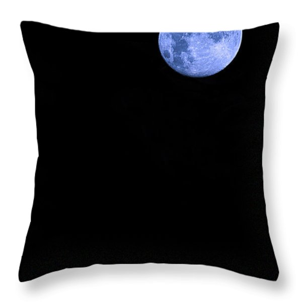 Blue Supermoon Throw Pillow by Trish Mistric