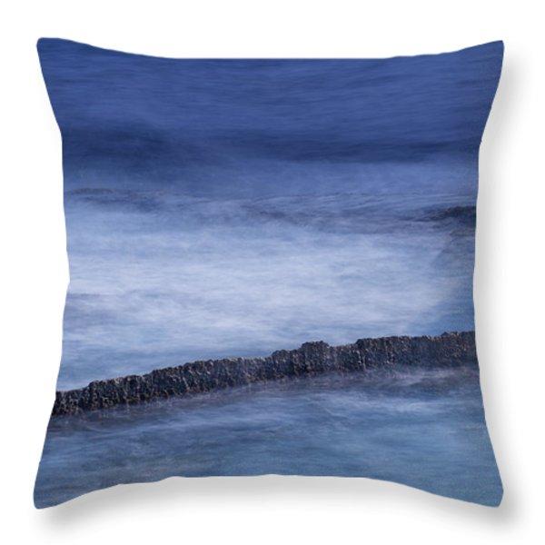 Blue Symphony Throw Pillow by Herbert Seiffert