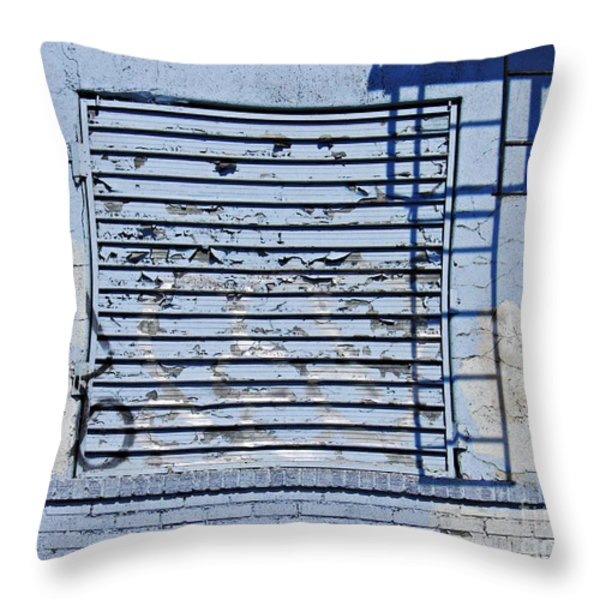 Blue Wall Throw Pillow by Sarah Loft
