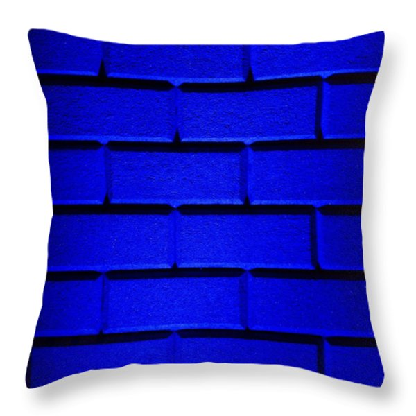 Blue Wall Throw Pillow by Semmick Photo