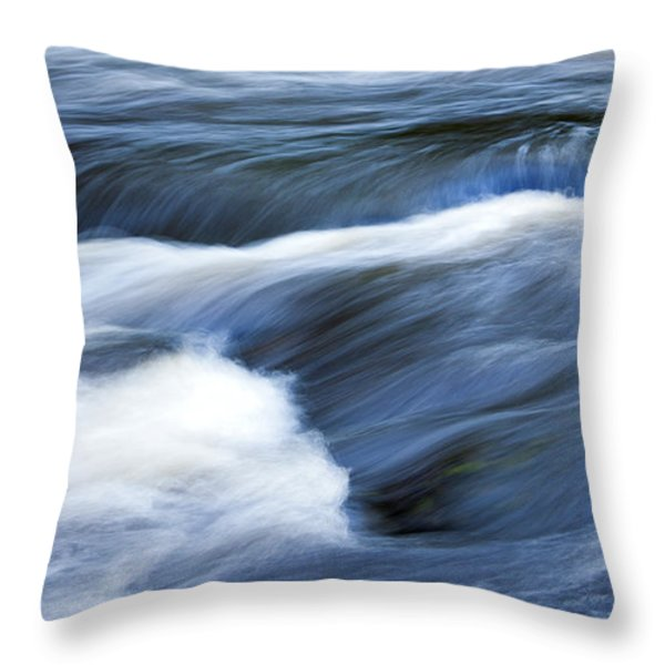 Blue Waltz Throw Pillow by Glenn Gordon